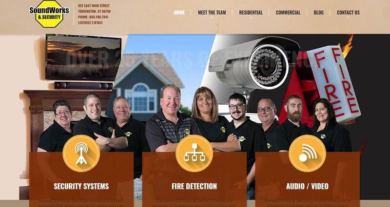 SoundWorks Security Torrington CT Security Fire Audio/Video CT